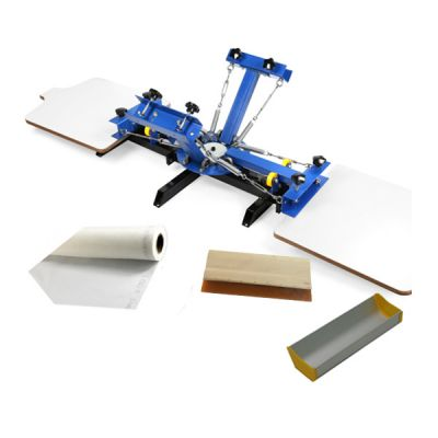 US Stock, CALCA 4 Color 2 Station Silk Screen Printing Press, for DIY T-Shirt Printing
