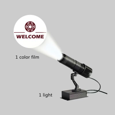 US Stock, 20W Black  Desktop or Mountable LED Gobo Projector Advertising Logo Light (with Custom 1 Color Static Glass Gobos)