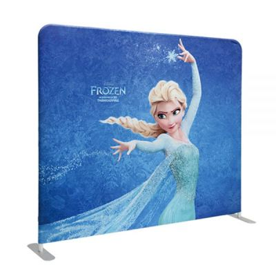 US Stock, 8ft High Portable Tension Fabric Exhibition Wall(Graphic Include/Single Sided)
