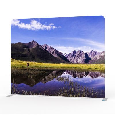 10ft High Portable Tension Fabric Exhibition Wall(Graphic Include/Double Sided)