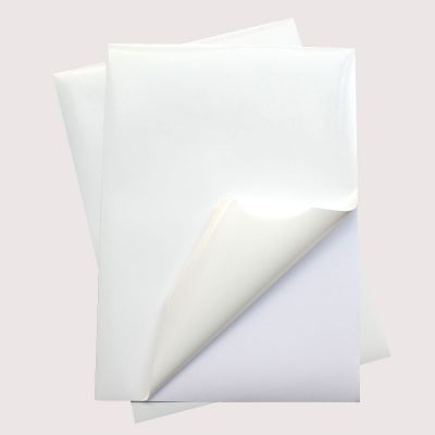A4 Blank Printable Stickers Glossy PP Paper with Self-Adhesive Shipping Labels for Laser Printer