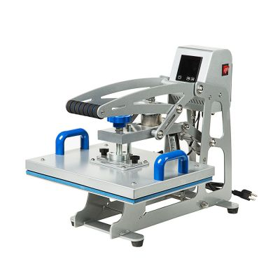 "110V Auto-open Flat Heat Press Machine 11"" x 15"" (280 x 380mm) for T-shirts with Replaceable Platen"