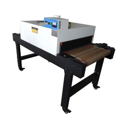 "220V 4800W Small T-shirt Conveyor Tunnel Dryer 5.9ft. Long x 25.6"" Belt for Screen Printing"