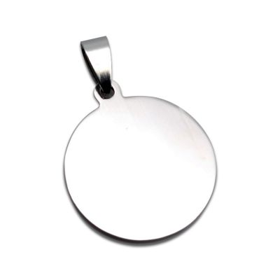 Stainless Steel Pendant Circle Pet Dog ID Tags Round Dog Tag with Inside-hole