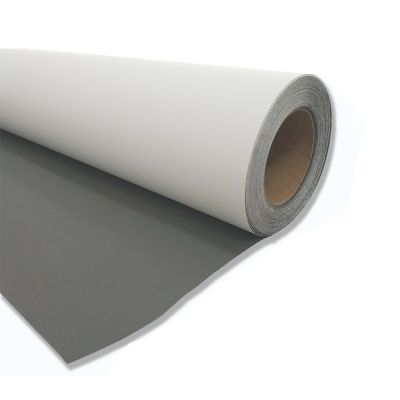 80in by 50yds Blackout Gray Back Display Fabric, 300gsm Polyester Blackout Fabric Printing
