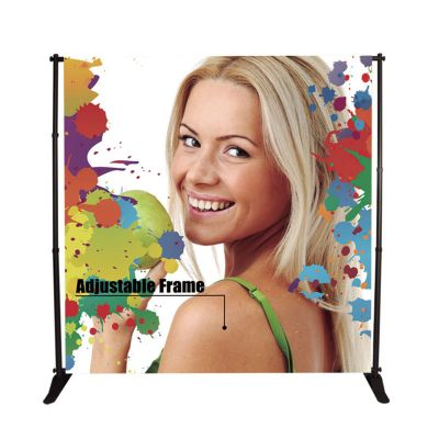 US Stock 50PC 8 x 10ft Step and Repeat Adjustable Backdrop Telescopic Banner Stand with Plastic Nut (Stand Only)