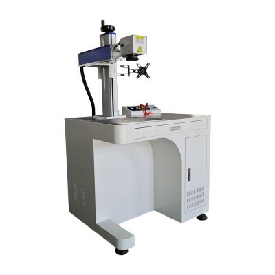 30W Desktop Fiber Laser Marking Engraving Machine, Rotary Axis Include