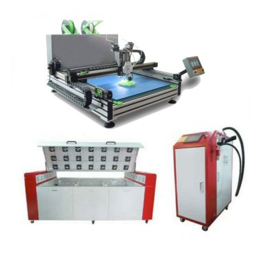 Industrial Automatic Color-Changing Shell Channel Letter 3D Printer+Super Character Curing Platform and Single-component Pouring Glue Machine