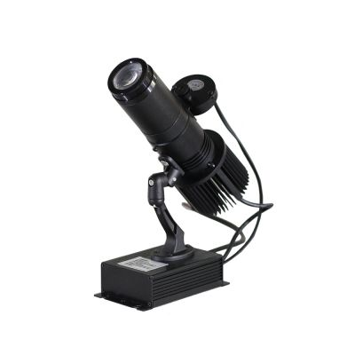 40W Indoor Black Remote Control LED Gobo Projector Advertising Logo Light (with Custom Rotating Glass Gobos)