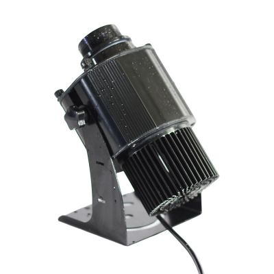 US Stock, 40W Outdoor Black Desktop or Mountable LED Gobo Projector Advertising Logo Light (with Custom Rotating Glass Gobos)
