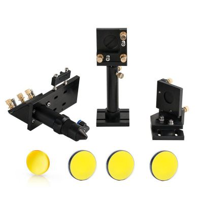 CO2 Laser Head Set with 1Pcs Laser Focus Lens 20mm with 3Pcs Mirror 25mm for Cutter