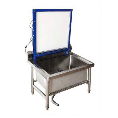 US Stock, Floor Type Stainless Steel Screen Printing Wash Tank Washout Booth with Backlight