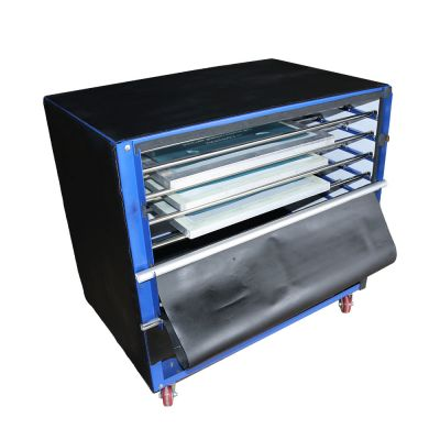 US Stock, 2400W 6 Layers  Floor Type Screen Printing Drying Cabinet Max Exposure size 24 x 35 in Screen Press Warming Machine
