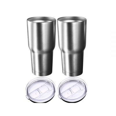 US Stock, 2pcs 30oz Stainless Steel Vacuum Insulated Tumbler Car Coffee Mug Stainless Steel Travel Cup