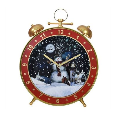 Lighted Musical Christmas Snowing Lamp Alarm Clock