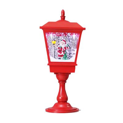 US Stock Tabletop Musical Christmas Snowing Lamp