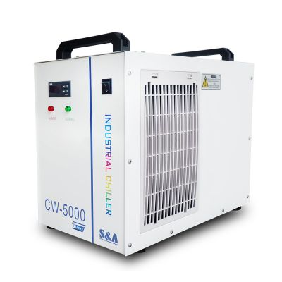 S&A CW-5000TG Industrial Water Chiller (AC220V 50Hz) for a Single 80W or 100W CO2 Glass Laser Tube Cooling, 0.4HP