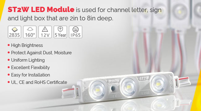 1 LED MODULE cold white 160° wholesale Waterproof sign high quality sample
